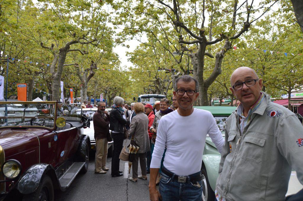 Avec Maurice Sabarot, qui représentait la municipalité, partenaire de cette manifestation.